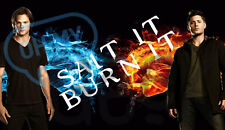 Supernatural Sam and Dean Salt It Burn It Magnet - More designs available!