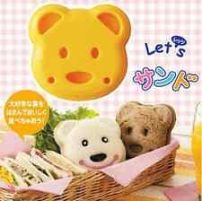 Cute Sandwich Cutter Teddy Bear Shape Cake Bread Toast Mold Mould Maker Tools