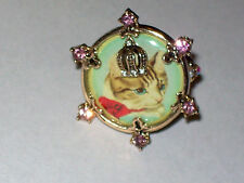 Betsey Johnson Princess Kitty Cameo Critters Stretch Ring