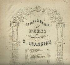 Tarantella di Salvatore Giannini Spartito Ottocentesco per Pianoforte 1890