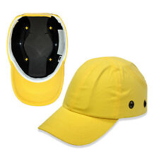 Yellow Baseball Bump Caps - Lightweight Safety hard hat head protection Caps