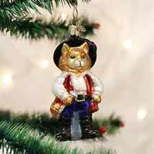 *Puss in Boots* [12375] Old World Christmas Glass Ornament - NEW
