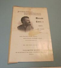 1898 Marescalchi Chicago Concert Program Pauline Miller Etta Fournier Amey Major