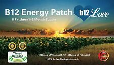 Vitamin B12 Energy (8) Patches. 2 MONTH SUPPLY! Boost Energy, Reduce Fatigue