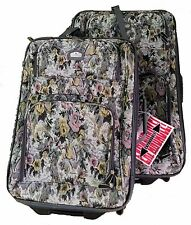 Gloria Vanderbilt Paisley Tapestry Luggage Set -- Expandable 2-pieces