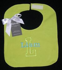 Personalized Flannel Bib size L Name and Initial