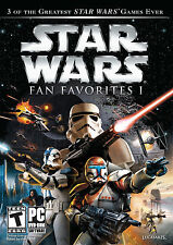 Star Wars Fan Favorites I (PC, 2010) Battlefront 1 2 Republic Commando I II