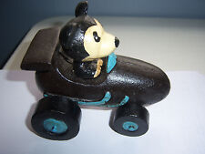 CAST IRON MICKEY MOUSE IN A RACE CAR..LQQQK