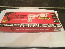 Bandit Guns Sheriff shotgun Rubber Band Gun Kit NEW In BOX