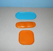Hasbro Play-Doh Sandwich French Roll Mold w/ Oval & Square Plates