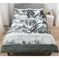 Stylish George Home Limitless Mountain Peaks KING SIZE Duvet Cover 2 Pillowcases