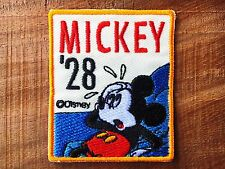 Mickey '28 Disney Embroidered Patch stickers for iron or sew on Jacket