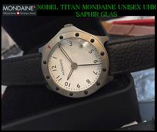 TITAN Mondaine swiss made unisex orologio vetro zaffiro di familiare & bello, arabo, PUNTO