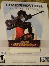 Overwatch Widowmaker Preorder Noire Legendary Skin DLC Code. PC Region Free