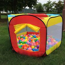 Play House Indoor/Outdoor Easy Folding Ball Pit Hideaway Tent Play Hut for Kids