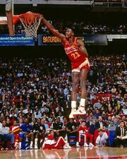 1988 Atlanta Hawks DOMINIQUE WILKINS Glossy 8x10 Photo Slam Dunk Print Poster