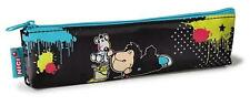 Nici 37075 Mäppchen Schaf Jolly Leroy und Ratte Nylon flach 19.5 x 5 cm
