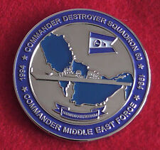 Challenge Coin Medal Commander Destroyer Squadron 50 Middle East Force US Navy