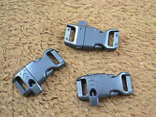"25pcs 1/2"" Curved Plastic Whistle Buckles for Paracord Bracelet Side Release"