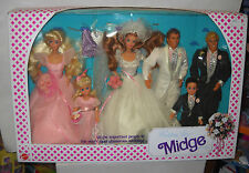 #7631 NRFB Vintage Mattel Barbie Midge Wedding Day Giftset