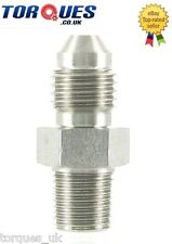 "AN -4 (AN4 AN 04) to 1/8"" NPT Straight Adapter In Stainless Steel"