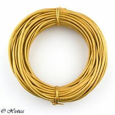Genuine Round Leather Cord - 1.5mm 10 Yards (33 Feet)  Over 35 Colors Available
