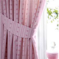 Girls Baby Pink Love Heart Curtains 72s