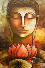 Framed Print - Face of Buddha (Picture Poster Art Buddhist Buddhism Religion)