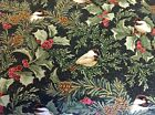 EBOR PATCHWORK FABRIC - CHICKADEES & BERRIES - 4742M-99