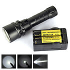 100M Diving Flashlight Underwater 3000LM XM-L T6 LED Waterproof Torch 2*18650