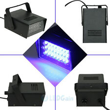 24 LED Strobe Lights DJ Disco Operated Party Stage Lighting Effect Light Blue