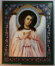 GUARDING ANGEL RUSSIAN ICON  15x18cm Laminated ICON