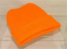 New Fluorescent Orange Acrylic Knitted Hat One Size