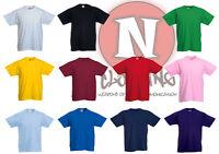 Fruit of the Loom klar Kinder Kinder t-shirt 1-13 jahre schule craft