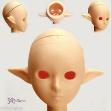 Obitsu 1/6 Figure 25cm 27cm Female Body Open Eye Hole Pixy Ear Head Natural Skin