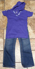 Childrens Place OUTFIT Jeans sz 5 Boot Cut Stretch and Blue Hoodie Shirt 5/6 TCP