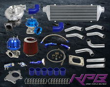 7PSI 70HP+ JDM UNIVERSAL T3/T4 TURBO KIT TURBOCHARGER+INTERCOOLER+WASTEGATE+BOV