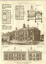 1904 Country Townhall Prize Drawings Designs Lionel Detmar