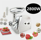 USA 2800W Home Electric Meat Grinder Sausage Stuffer Stainless 4BLADES