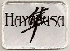 LOT OF 2 - HAYABUSA W/ SYMBOL EMBROIDERED  BIKER  PATCH