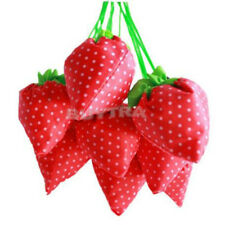 Convenient Strawberry Collapsible Reusable  Shopping Storage Reticule Bag