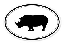 "Rhino Oval car window bumper sticker decal 5"" x 3"""