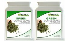 2 x 60 GREEN COFFEE BEAN EXTRACT CAPS PILL BOTTLE DIET WEIGHT LOSS SUPPLEMENT