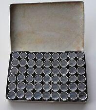 Boîte de rangement Alu 54 petits pots horlogerie, bijouterie