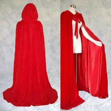 Cosplay Velvet Cloak Witch Adult Hooded Cape Halloween Wedding Party Costume hot
