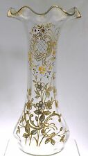 "Mont Joye Legras - Rococo Gold Decorated Ruffled Top 11""  Vase"