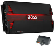 New Boss Audio PT3000 3000W 2 Channel Car Audio Amplifier Power LED Amp+Remote