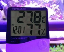 New Marine Aquarium Digital LCD Temperature Humidity Monitor Sump Room Fish Room