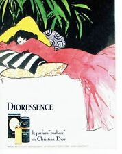 PUBLICITE ADVERTISING 027  1980  Dior parfum Dioressence René Gruau