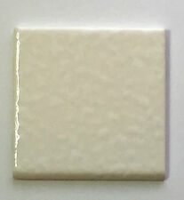 (Z-950B) 1pc Vintage Ceramic Wall Tile 4 1/4 Textured White Onyx Glossy Bullnose